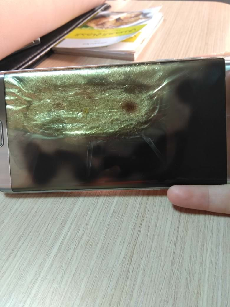 Galaxy S7 Edge patladı