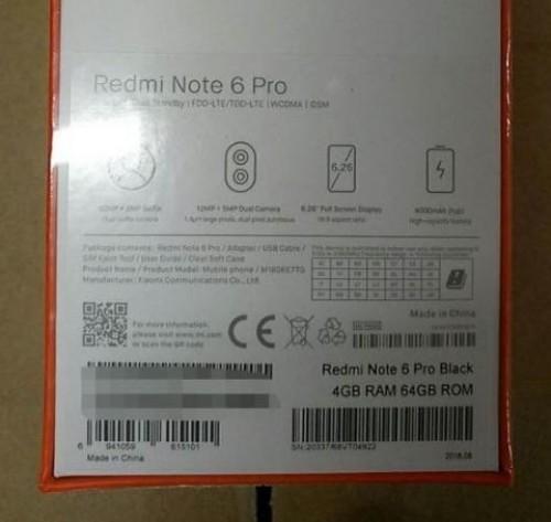 Xiaomi Redmi Note 6 Pro özellikleri
