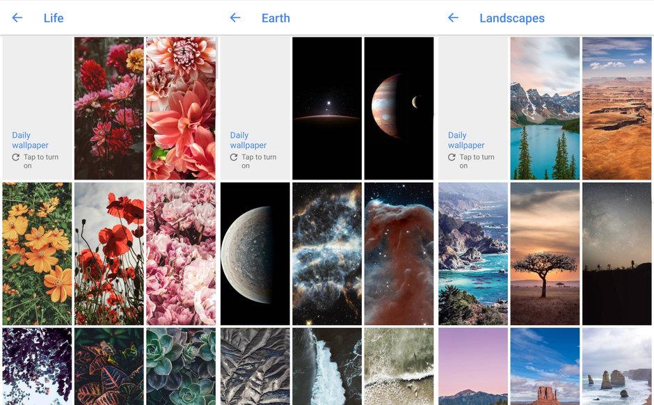 Google Duvar Kağıtları Uygulaması