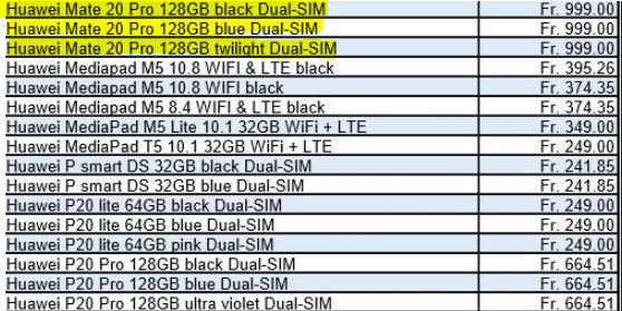 Huawei Mate 20 Pro fiyatı