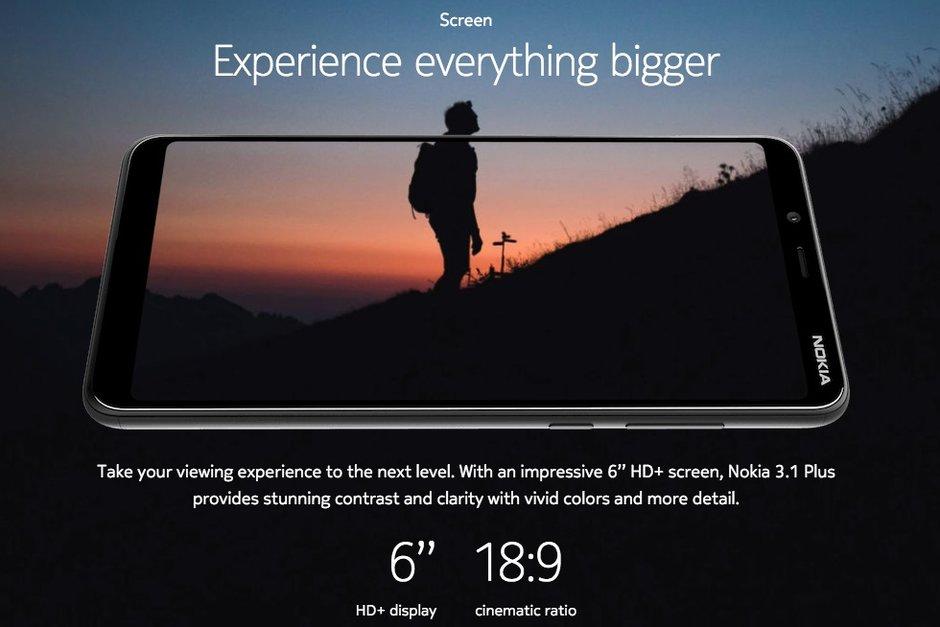 Nokia 3.1 özellikleri