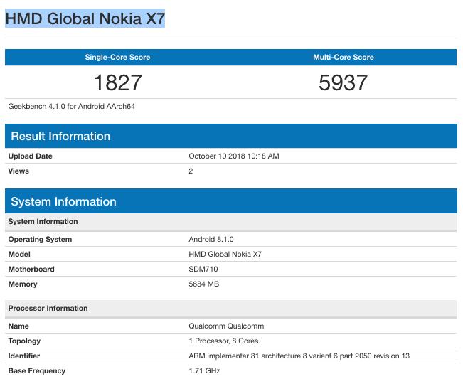 Nokia 7.1 Plus performans testi ortaya çıktı!
