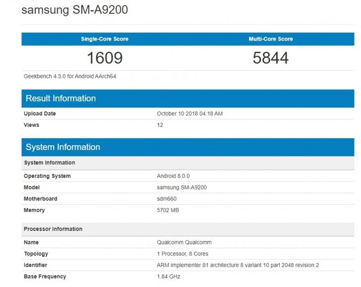 Samsung Galaxy A9s özellikleri
