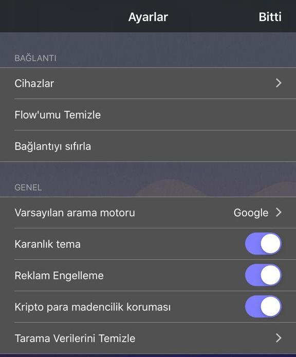 Opera Touch karanlık tema güncellemesi 4