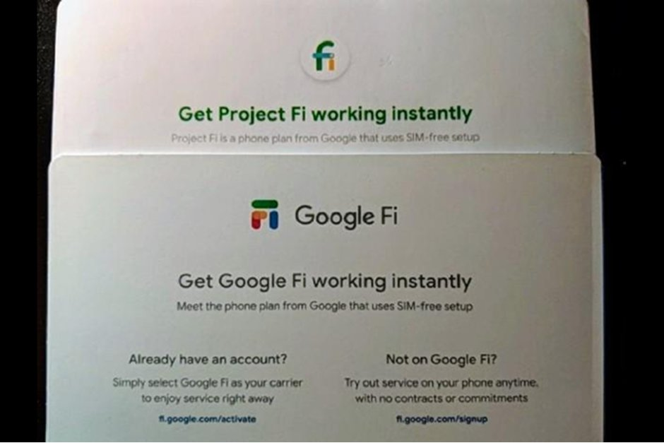 Project Fi ve Google Fi