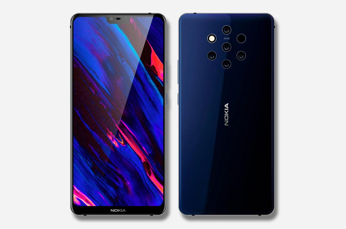 Beş Kameralı Nokia 9 Pureview