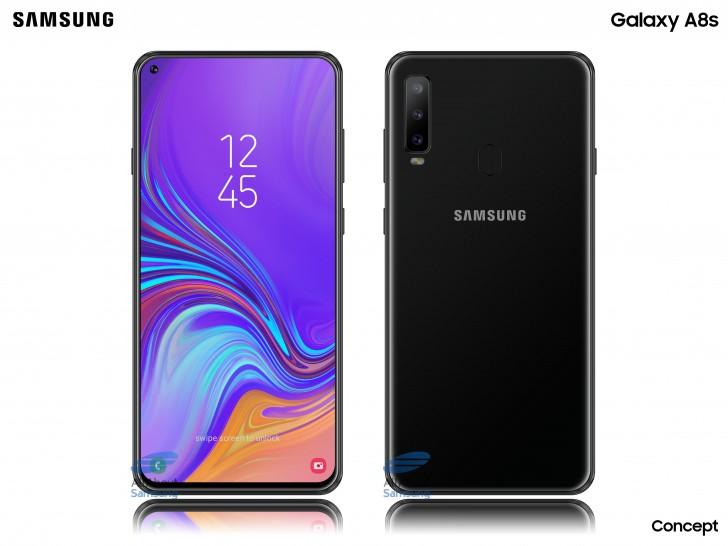 Galaxy A8s ekrana gömülü kamera