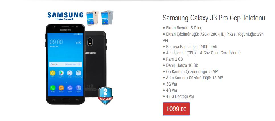 Galaxy J3 Pro 2017 BİM