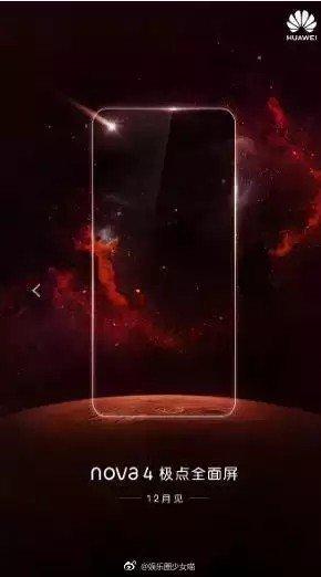 Huawei Nova 4 ekrana gömülü kamera
