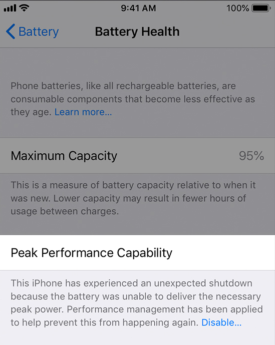 iPhone X ve iPhone 8 güç yönetimi