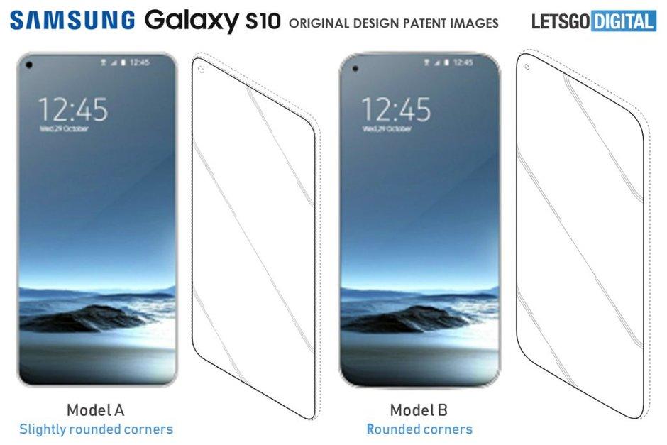 Samsung Galaxy S10 tasarımı