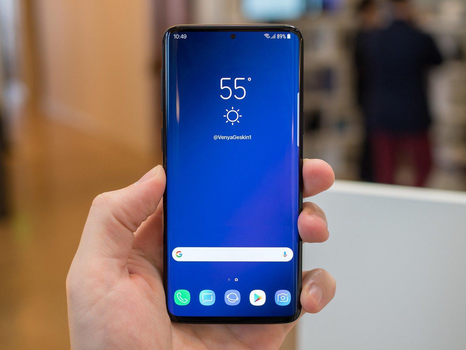 Samsung Galaxy S10 tasarimi