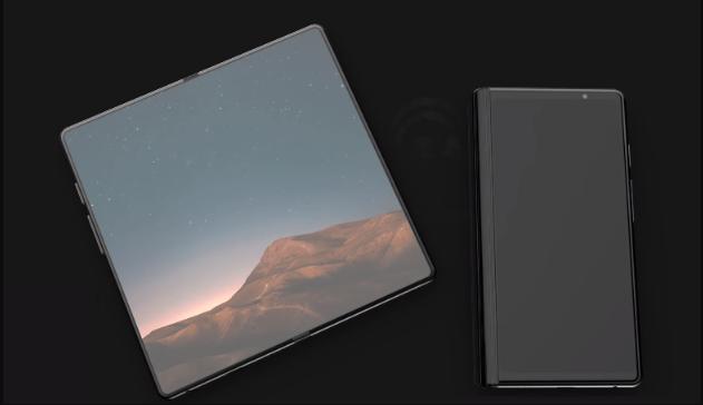 Samsung katlanabilir telefon galaxy f tasarımı
