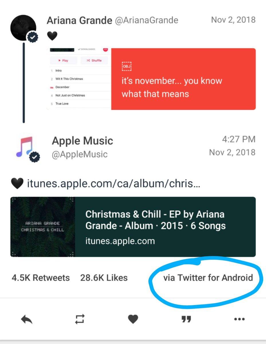 Apple Music Twitter paylaşımı