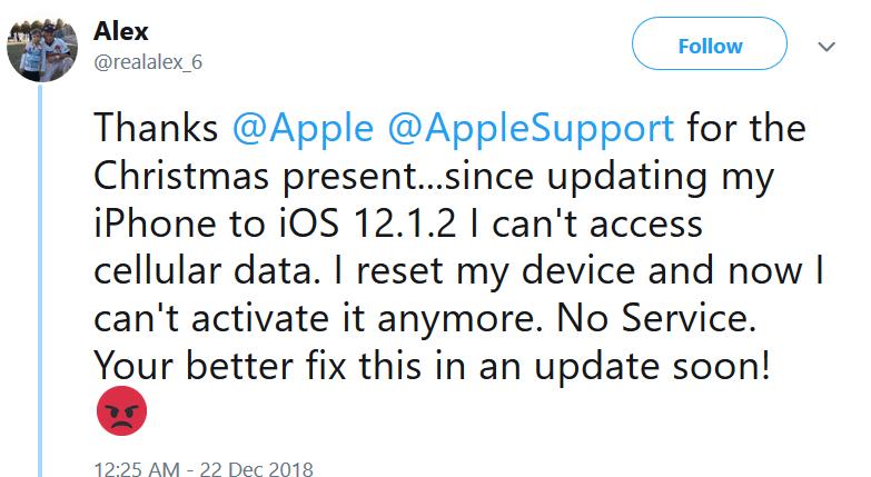 iOS 12.1.2 bağlantı sorunu