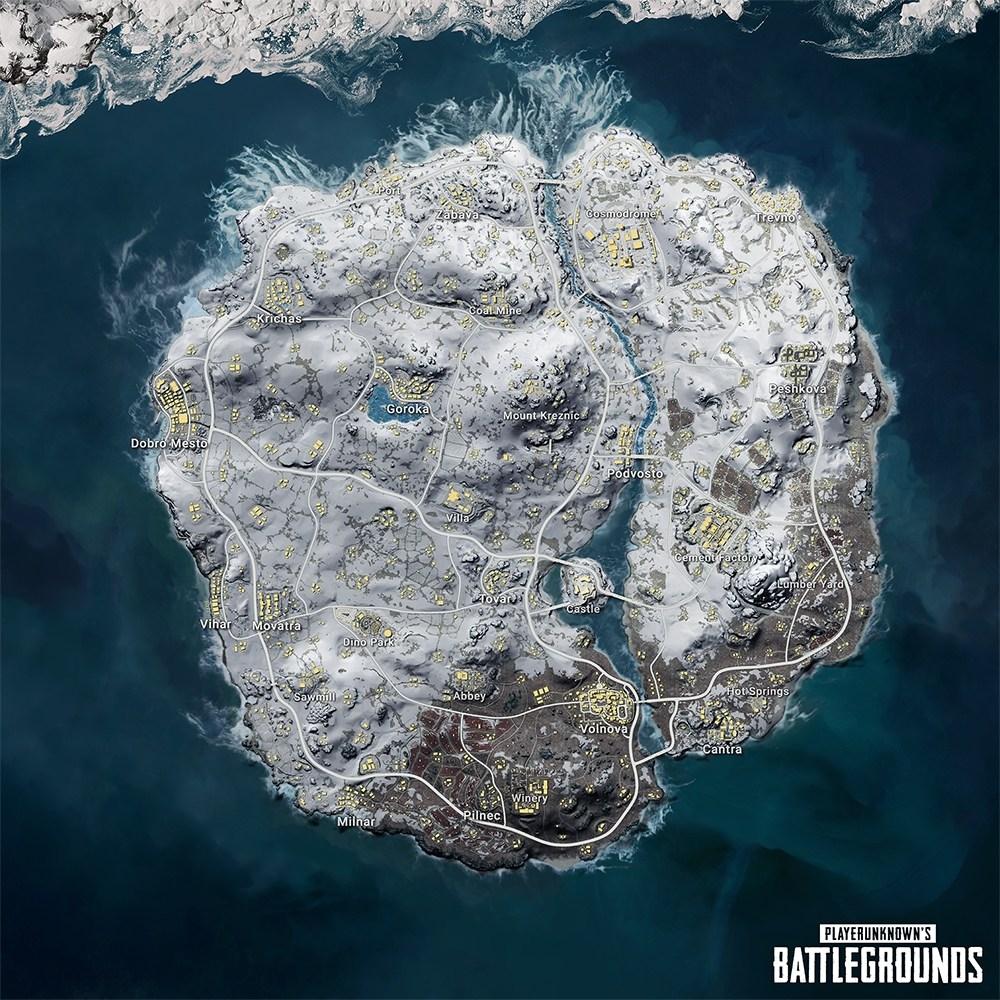 PUBG Mobile kar haritası