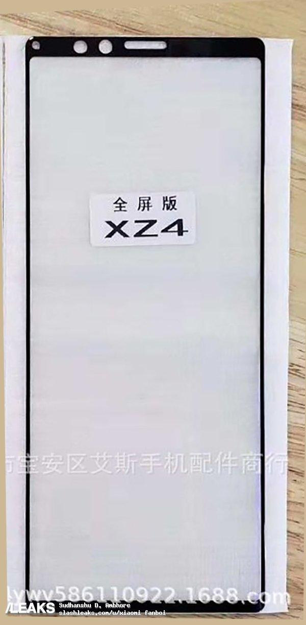Sony Xperia XZ4 ekran tasarımı
