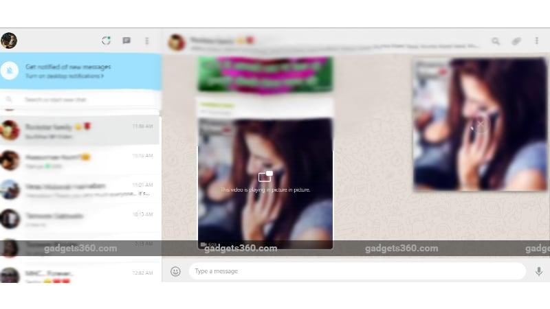 WhatsApp Web PiP Mode