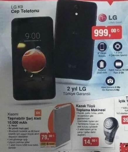 BIM uygun fiyata LG K9