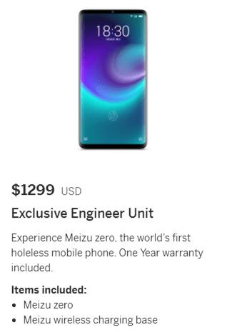 Meizu Zero fiyatı