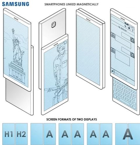 Samsung oldukça ilginç telefon patenti aldı.