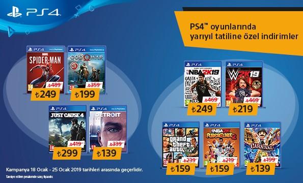 Sony PlayStation yarıyıl indirimleri