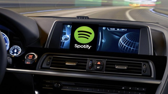 Spotify, araç içi müzik çalar