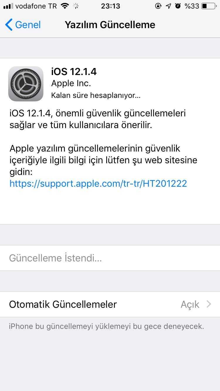 iOS 12.1.4 güncellemesi / FaceTime hatası