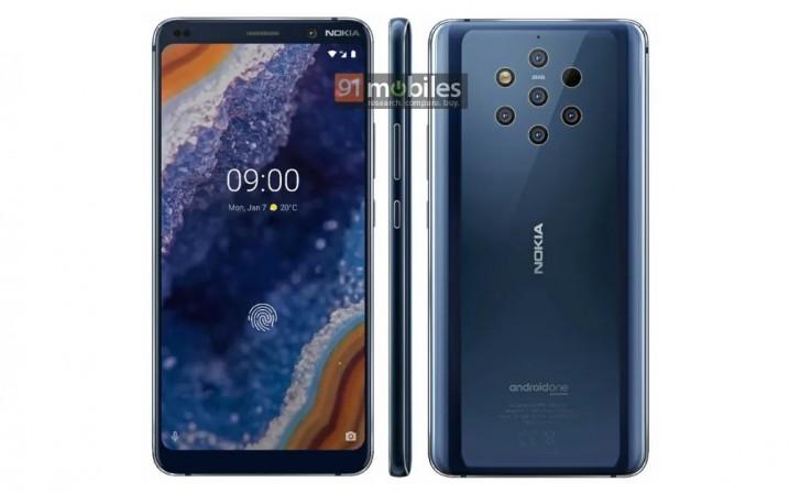 Nokia 9 modelinin Render görüntüleri