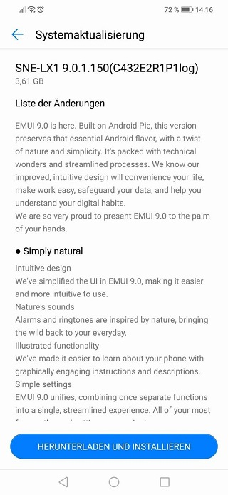 Huawei Mate 20 Lite Android Pie beta
