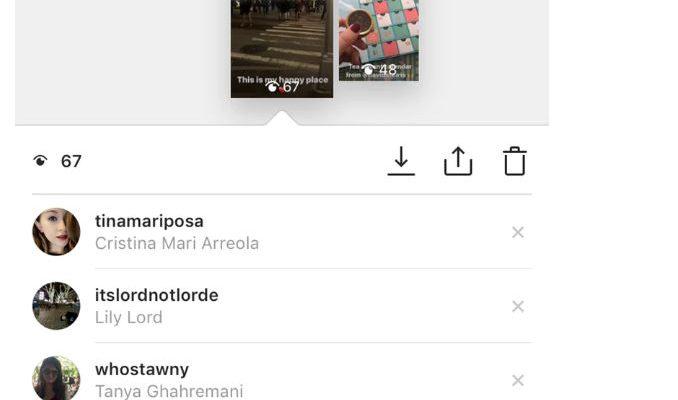 Instagram hikayede görüntüleme sırası