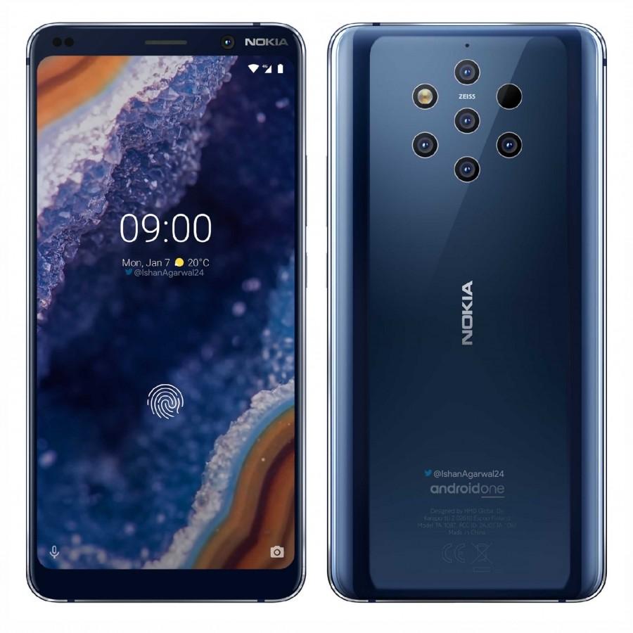5 arka kameralı Nokia 9 PureView
