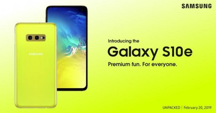 Samsung Galaxy S10e posteri
