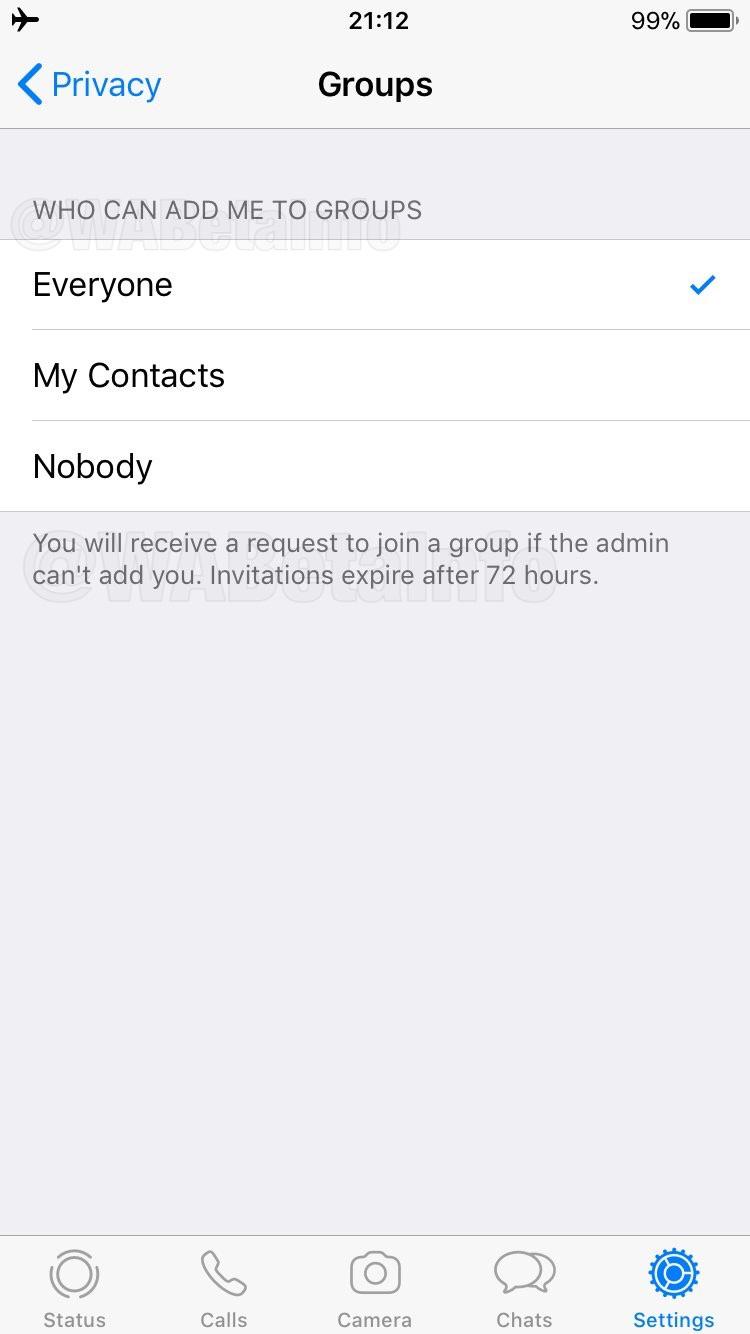 WhatsApp davetiye