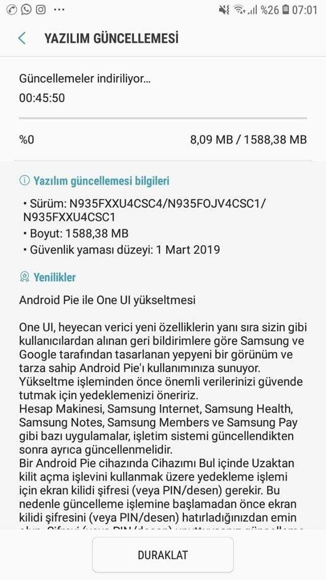 Galaxy Note 7 FE Android Pie güncellemesi aldı! - ShiftDelete Net