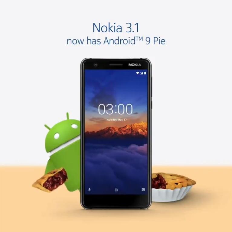 Nokia 3.1 Android Pie güncellemesi