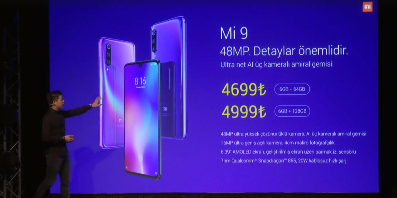 Xiaomi Mi 9 Türkiye fiyatı