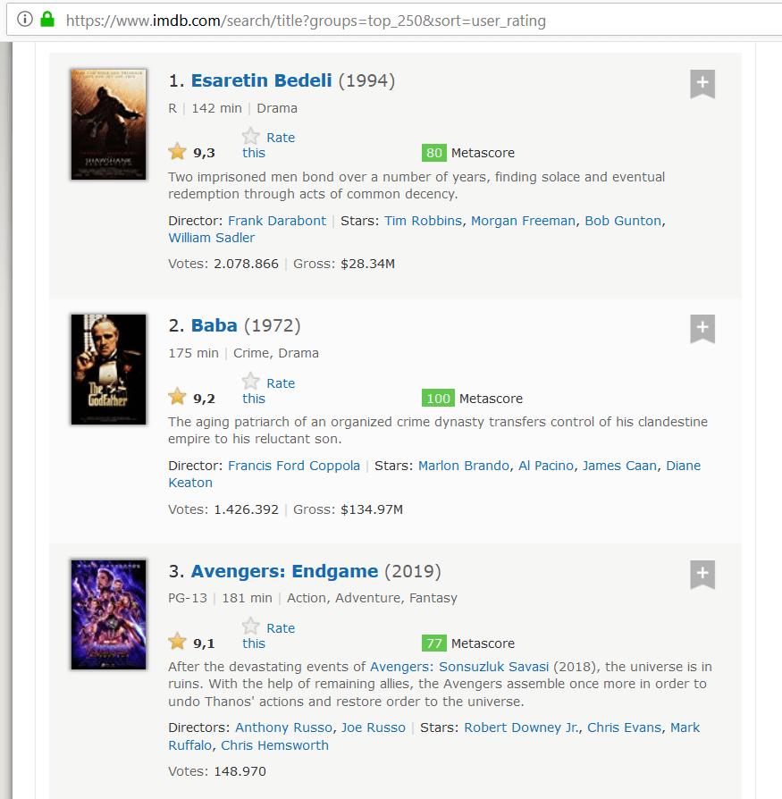 Avengers Endgame IMDb