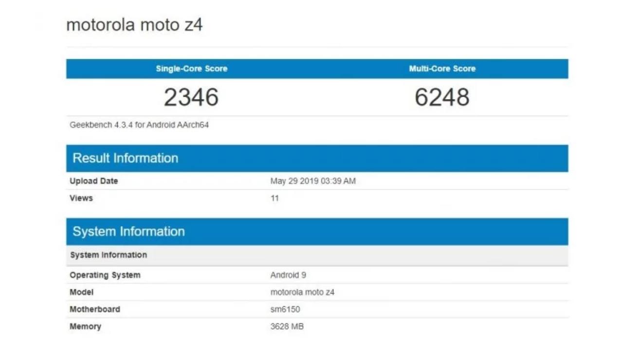 Motorola Moto Z4 Geekbench sonuçları sızdırıldı! - ShiftDelete.Net