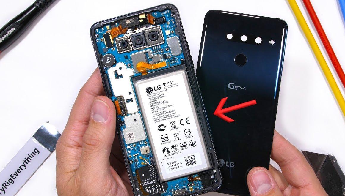 LG G8 ThinQ parçalarına ayrıldı