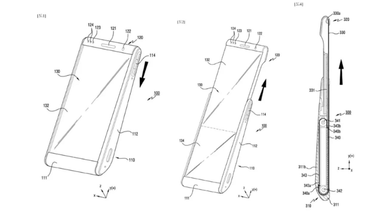 Samsung kızaklı telefon patenti görüntülendi! - ShiftDelete.Net