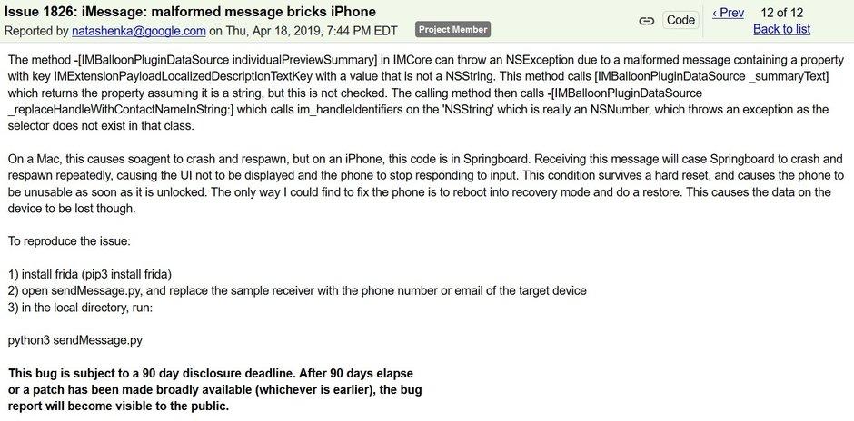 iPhone çökme hataları