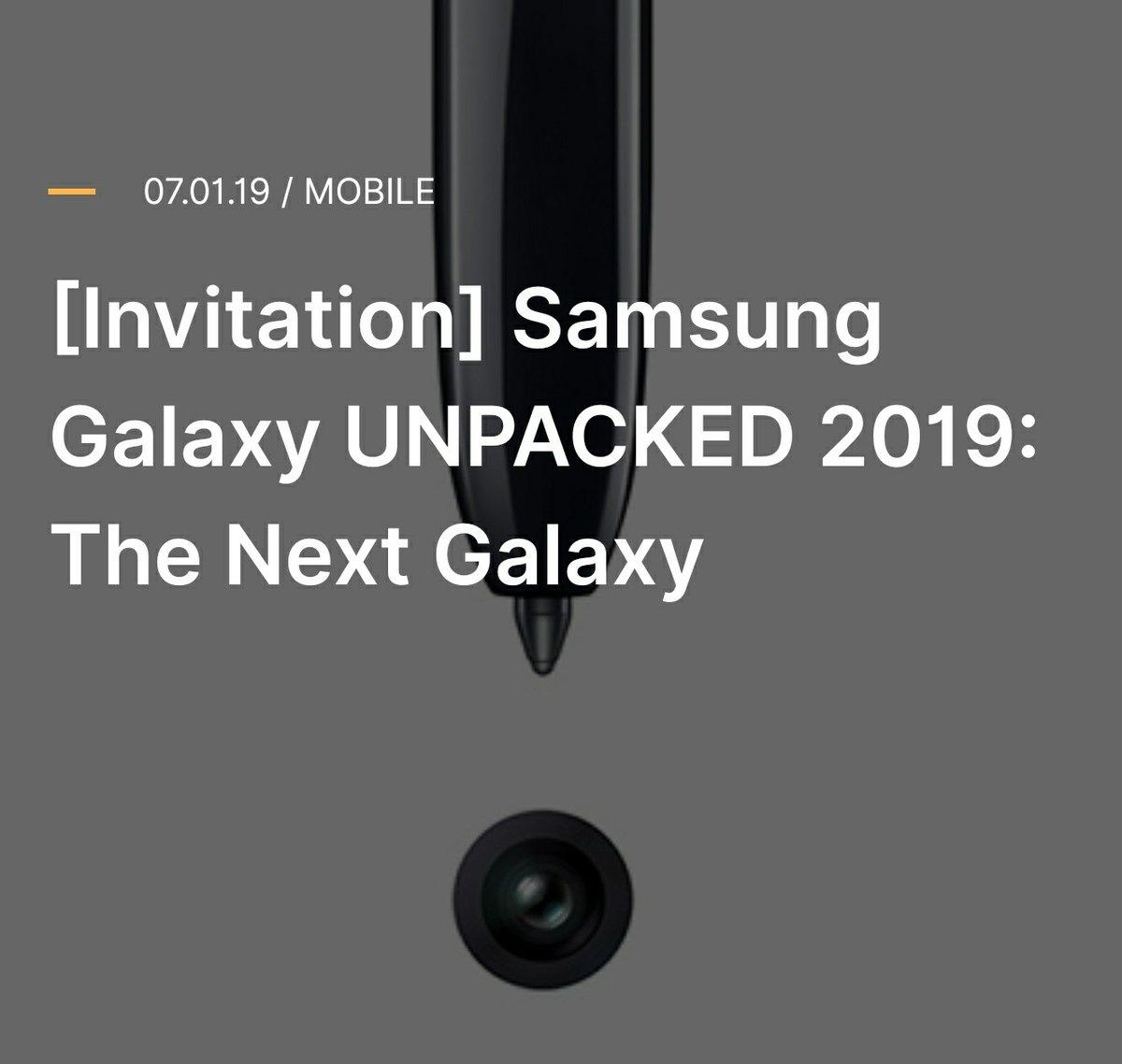 Samsung Galaxy Note 10 tanıtım tarihi