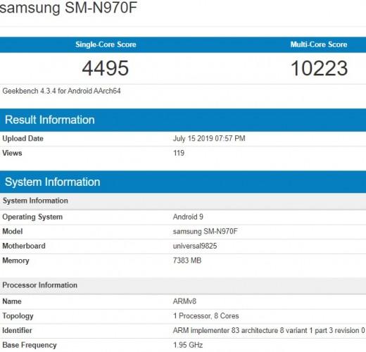 Galaxy Note 10 Geekbench testleri ortaya çıktı! - ShiftDelete.Net