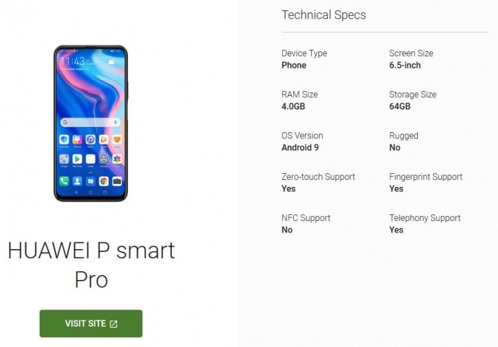 Huawei P Smart Pro özellikleri kazara paylaşıldı! - ShiftDelete.Net
