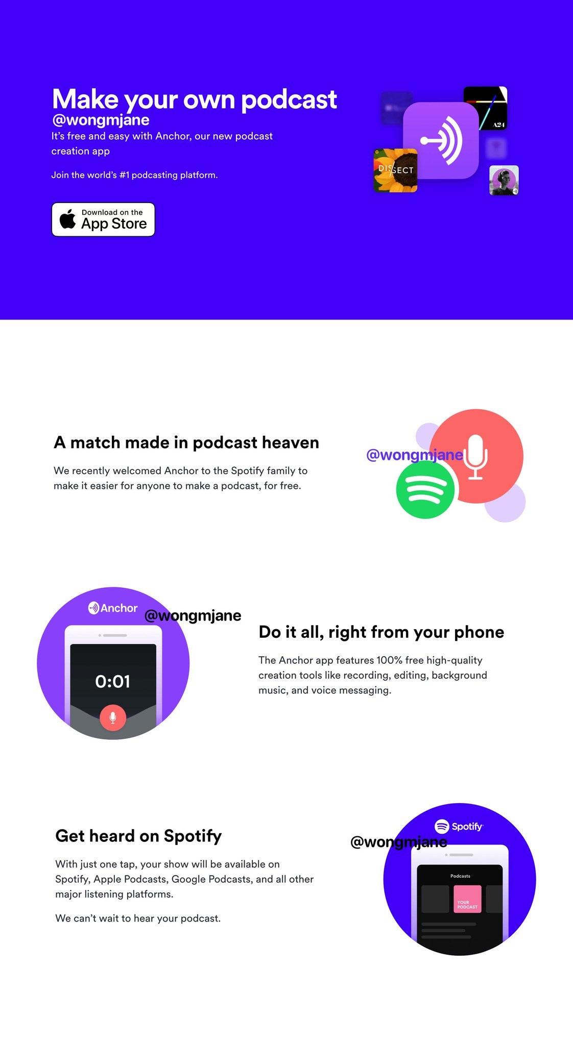 Spotify Podcast oluştur butonu - 1