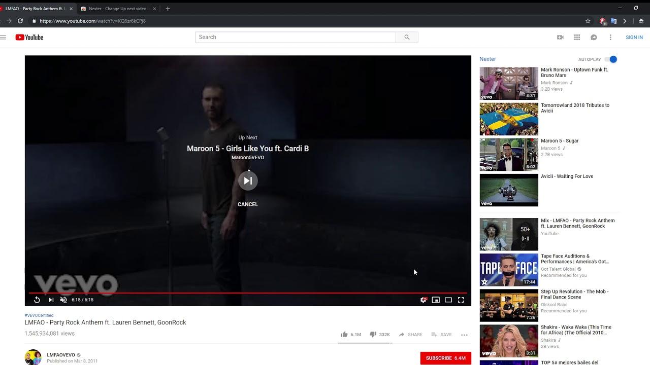 youtube sıradaki video