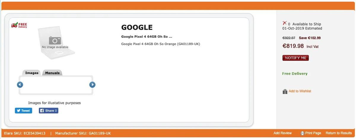 Google Pixel 4 tanıtılmadan satışa sunuldu