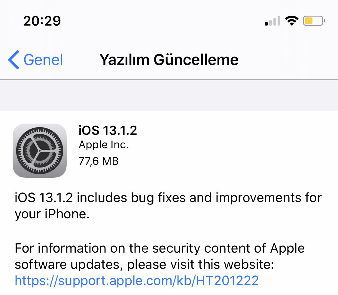 iOS 13.1.2 güncellemesi çıktı! İşte yenilikler - ShiftDelete.Net