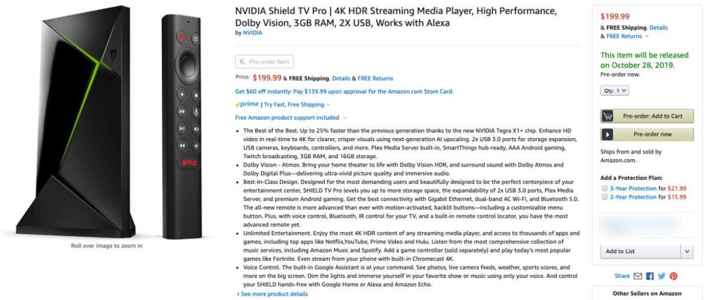 Nvidia Shield TV Pro 199 dolar satış etiketi ile kullanıcılara sunulacak
